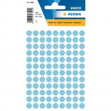 , Etiket Herma 1843 rond 8mm blauw 540stuks