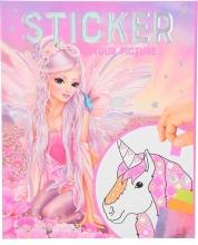 0011122 a , Fantasy model sticker your picture