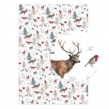 , Kerst kado papier konijnen
