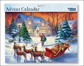 , Adventskalender 06 kerstman met slee
