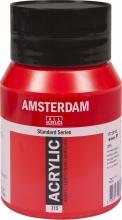, Talens amsterdam acrylverf pot 500ml pyrollerood 315