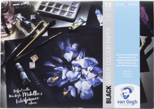 , Talens van gogh black water colour paper 360gr a4