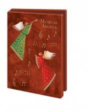 Mcw226 , Kerstkaart mapje 10 stuks met env music angels