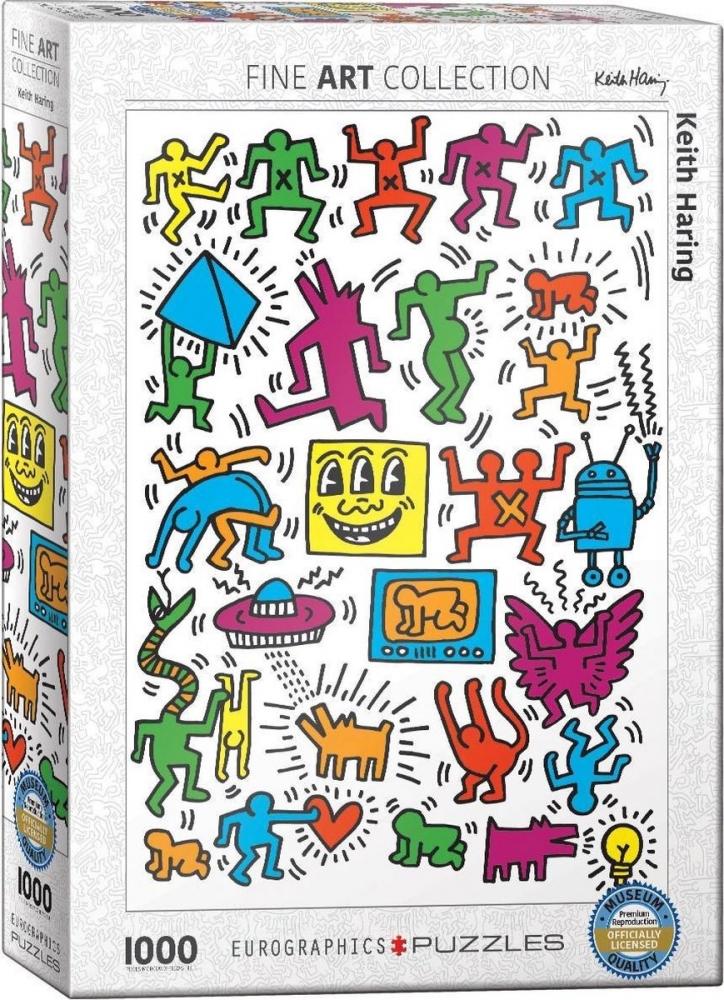 Eur-6000-5513,Puzzel collage -  keith haring eurographics 1000 stuks