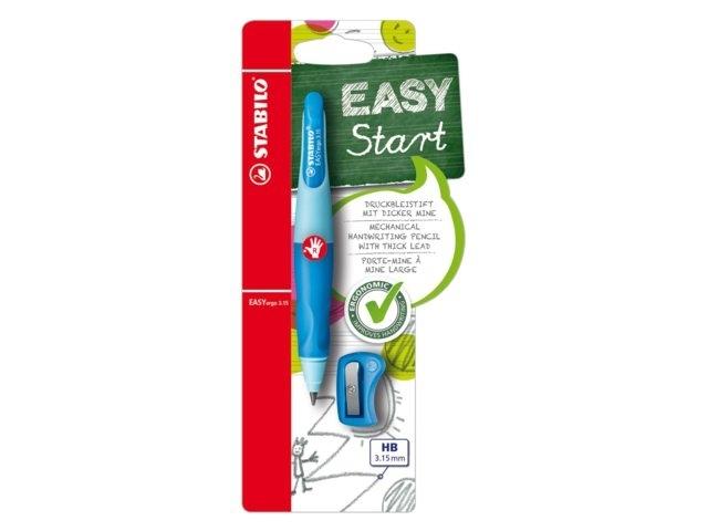 ,Vulpotlood STABILO Easyergo 3.15mm rechtshandig blauw/donkerblauw blister