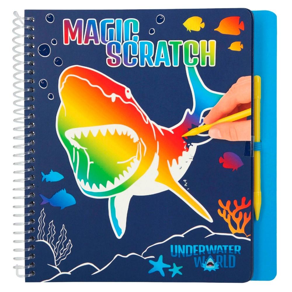 0011079 a,Dino world magic scratch book underwater