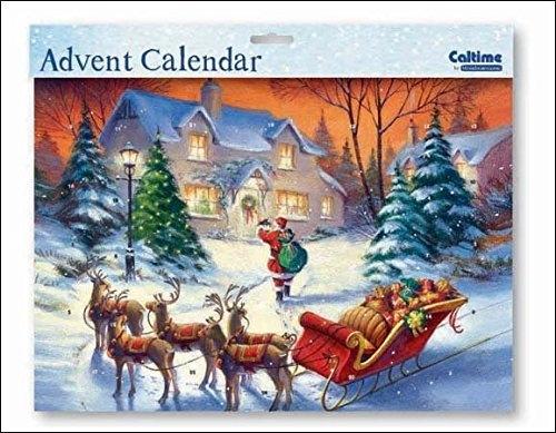 ,Adventskalender 06 kerstman met slee