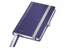 ,<b>Notitieboek Leitz Style harde kaft A6 lijn titaniumblauw</b>