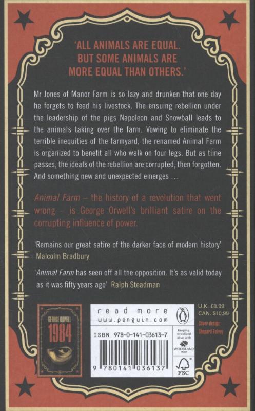 George,Orwell,Animal Farm (shepard Fairey Cover)