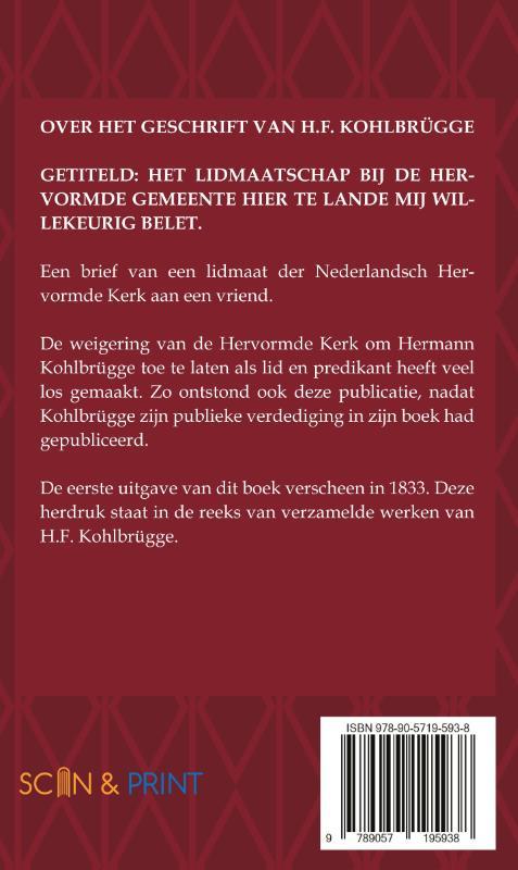 ,Over het geschrift van H.F. Kohlbrügge