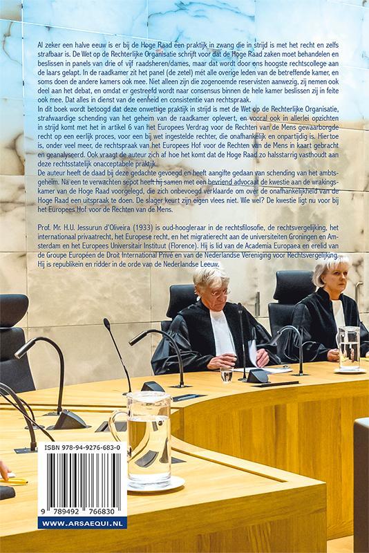 Hans Ulrich Jesserun d`Oliveira,Een boekje open over de Hoge Raad en zijn reservisten