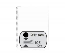 , Draadrug Fellowes 12mm 34-rings A4 zwart 100stuks