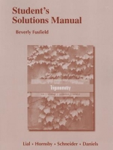 Margaret L. Lial,   John Hornsby,   David I. Schneider,   Callie J. Daniels Student`s Solutions Manual for Trigonometry