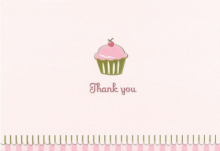 Cupcake Thank You Notes
