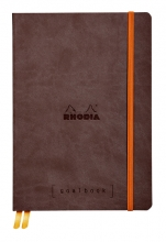 , Bullet Journal Rhodia A5 60vel dots chocolade bruin