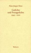 Heise, Hans-Jürgen Gedichte und Prosagedichte 1949-2001