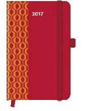 Cool Diary PATTERN Red 2017 9x14