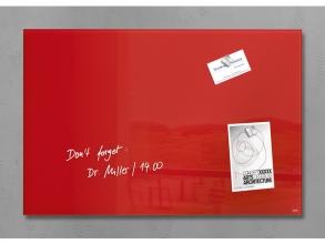, glasmagneetbord Sigel Artverum 600x400x15mm Rood