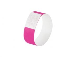 , evenementenbandjes Sigel super soft, 255x25mm 520 stuks     neon roze