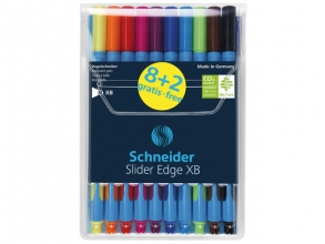 , balpen Schneider Slider Edge XB 1,4mm assorti etui a 8      stuks en 2 gratis