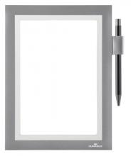 , Duraframe Durable 499423 Note A5 zelfklevend zilvergrijs