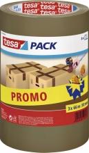 , Verpakkingstape Tesa 57519 50mmx66m bruin PP promopack