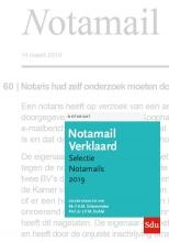 Notamail Verklaard, Selectie Notamails 2019
