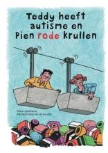 Ingrid  Mous Teddy heeft autisme en pien rode krullen