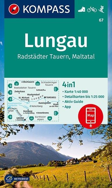 KOMPASS-Karten GmbH,KOMPASS Wanderkarte Lungau, Radstädter Tauern, Maltatal 1:40 000