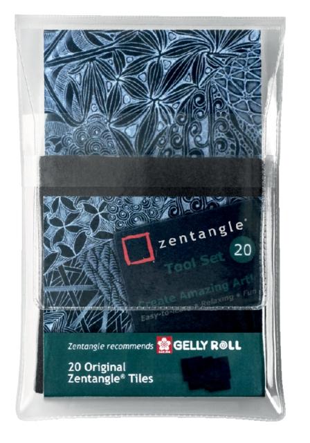 ,Fineliner Sakura Zentangle tiles 20delig zwart