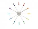 ,Wandklok NeXtime dia. 58 cm, RVS, kleur, `Plug Inn`
