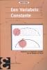 Martin  Kindt,Epsilon uitgaven Een Variabele Constante