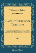 Author, Unknown Author, U: Laws of Wisconsin Territory