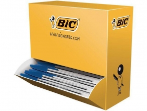 , Balpen Bic Cristal blauw medium doos 90+10 gratis