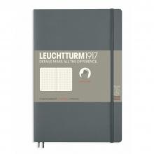 Lt358327 , Leuchtturm notitieboek softcover 19x12.5 cm bullets/dots/puntjes antraciet