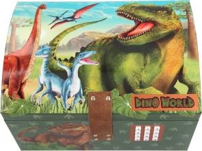 , Dino world schatkist met code, geluid en licht