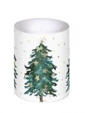 , Kaars met kerstboom 12 cm hoog