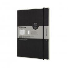 , Moleskine 12 MND Agenda - 2021 - Paper Tablet Smart Planner - Wekelijks - Pro XL (13X25 cm) - Zwart