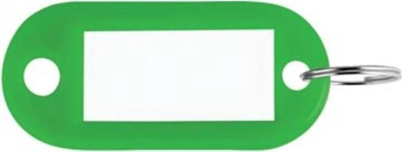 , Sleutellabel Pavo kunststof groen
