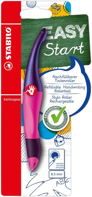 ,Rollerpen STABILO Easyoriginal rechtshandig magenta holograph edition blister