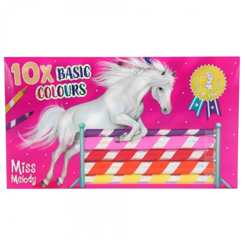 ,Miss melody kleurpotloden 10 s tuks
