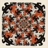 <b>Puz-823</b>,Puzzel mini - m. c. escher - salamanders - 210 - 17 x 17