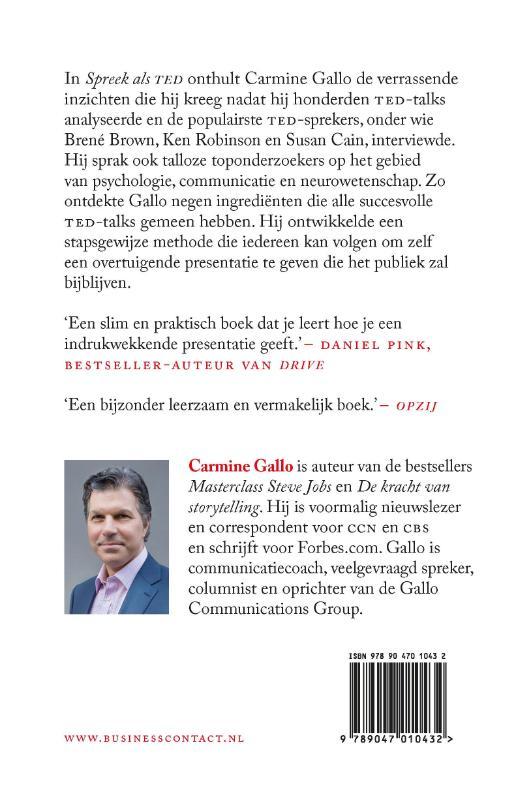 Carmine Gallo,Spreek als TED