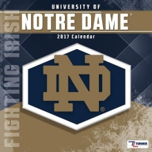 University of Notre Dame Fighting Irish 2017 Calendar