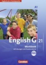 Seidl, Jennifer,   Schwarz, Hellmut English G 21. 2. Fremdsprache. Ausgabe A 1. Workbook mit Audio online