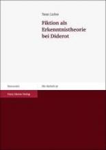 Lafon, Yann Fiktion als Erkenntnistheorie bei Diderot