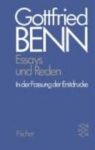 Benn, Gottfried Werkausgabe III. Essays und Reden in der Fassung der Erstdrucke