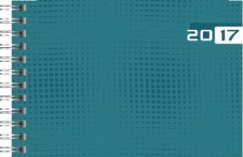 Taschenkalender Septimus 2017 petrol. 2 Seiten = 1 Woche, 152 x 102 mm