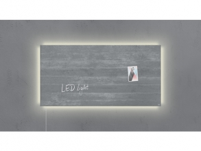 , glasmagneetbord Sigel Artverum LED 910x460x15 betondesign