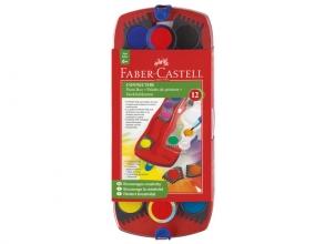 , verfdoos Faber-Castell Connector 12 kleuren met penseel